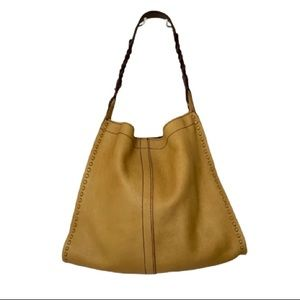 Lucky Brand Francoise leather hobo braided strap